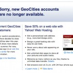How Blogs & Social Networks Killed Yahoo! GeoCities