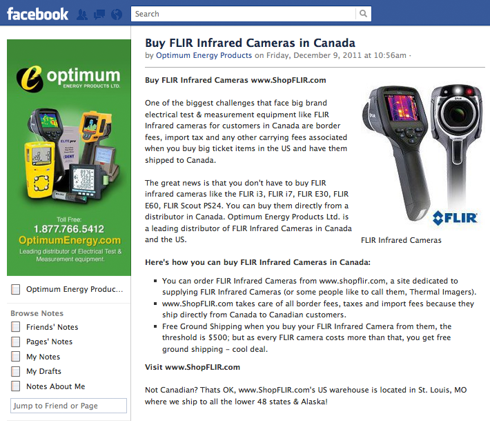 facebook-note-buy-flir-infrared-cameras-in-canada